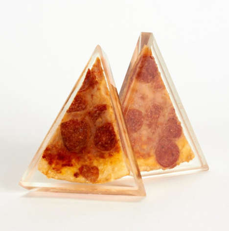 Preserved Resin Pizzas - The 'Forever Pizza' Art Piece Eternally Freezes the Food in Solid Plastic