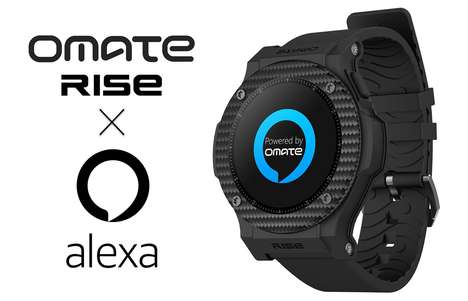 Digital Assistant Smartwatches - The Omate Rise 3G Smartwatch Features Connectivity to Amazon Alexa