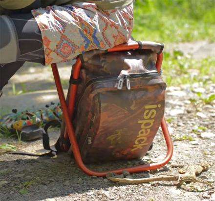 Chair-Embedded Backpacks - The ISPACK Adventure Backpack Offers a Spot to Sit During Hikes
