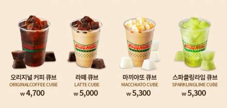 Coffee Cube Beverages - Dunkin' Donuts South Korea is Serving Up Drinks Made with Flavored Ice Cubes