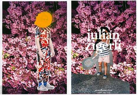 Collaged Fashion Marketing - The Latest Julian Zigerli Campaign is Artfully Conceived