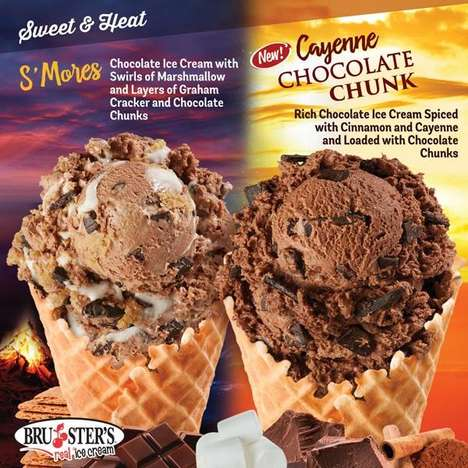 Spicy Chocolate Ice Creams - Bruster's 'Sweet & Heat' Menu Includes Spicy New Flavors