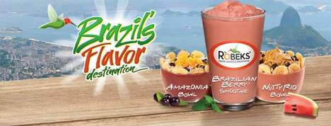 Olympic-Inspired Smoothie Bowls - Robeks' Newest Smoothie Bowls Feature Authentic Brazilian Flavors