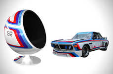 Automobile-Inspired Ball Chairs - Racing Emotion's New Chair Designs are Inspired by Classic Cars
