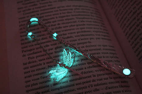 Illuminating Bookmark Designs - Manon Richard's Page Holders Shine a Blue Light for Use in The Dark