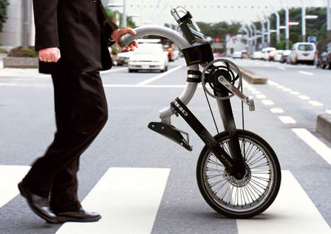 Transportable Bending Bikes - The Somerset Bicycle Folds To Be Carried on Public Transportation