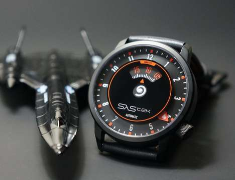 Speedometer-Inspired Timepieces - The SaStek Time Speed Indicator Watch is Cockpit-Inspired