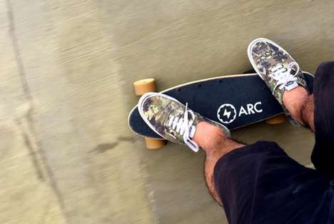 Compact Electric Skateboards - The 'Arc' is a Small Skateboard with Powerful Mobility Capabilities