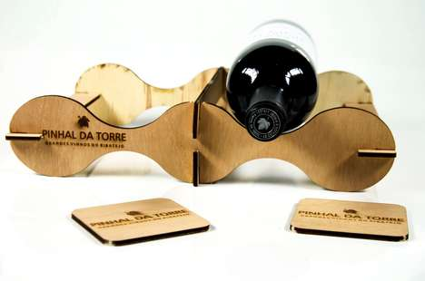 Sophisticated Wine Carriers - This Box Turns into a DIY Structure That Transports and Holds Wines