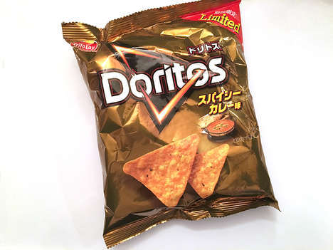 Curry-Flavored Corn Chips - These Spicy Curry Doritos are Available for a Limited-Time in Japan