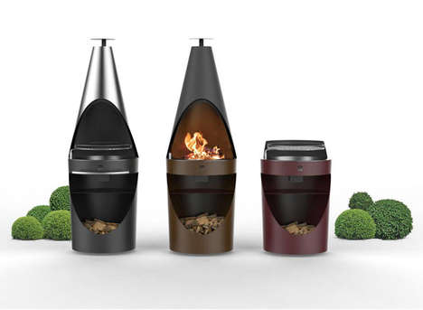 Flexible Metallic Barbecues - The 'King' Grills by Emo Design Offer a Design Inspired By Chimneys