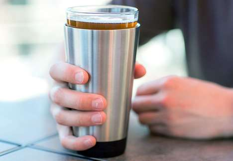 Efficient Pint Glass Coozies - The 'Chilloozie' Keeps Pints Cold for Up to Two Hours