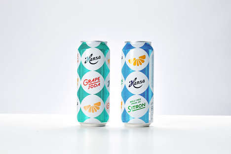 Carbonated Fruit Mixers - Hansa Makes Grape and Citrus Soda Beverage Mixers