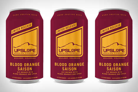 Spiced Citrus Ales - The Upslope Blood Orange Saison Beer Contains Notes of Pink Peppercorn