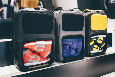 Sporty Footwear Backpacks - The HEX Sneaker Knapsack Features a Shoe Compartment For Extra Kicks