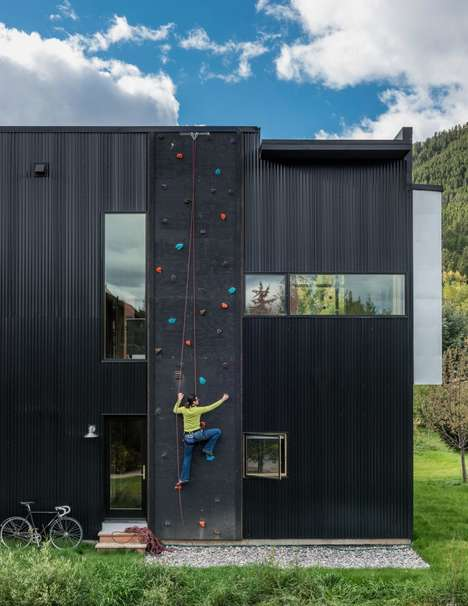 Climbing Wall Homes - This House By Carney Logan Burke Lets Dwellers Scale The Siding