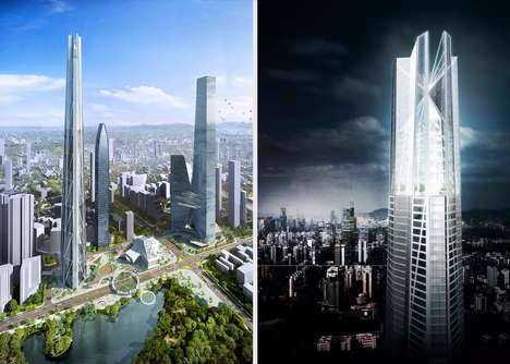 Garden-Touting Skyscraper Towers - The H700 Shenzhen Tower will Be a Half Mile in Height
