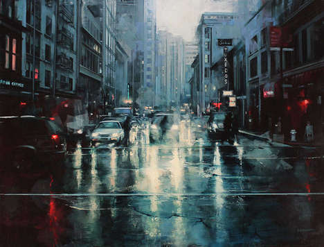 Urban Atmospheric Paintings - Lindsey Kustusch Captures US Cities in an Expressive and Realistic Way