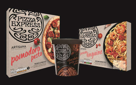 Pizza Brand Ready Meals - The PizzaExpress Brand Now Includes Frozen Pizzas and Other Ready Meals