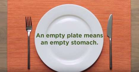 Viral Hunger PSAs - Feeding America's 'Empty Plates' Ad Copies the Format of Viral Recipe Videos