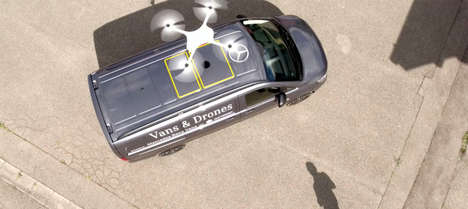 Delivery Drone Van Ports - The Vision Van's Roof Serves as a Launch Pad for Delivery Drones