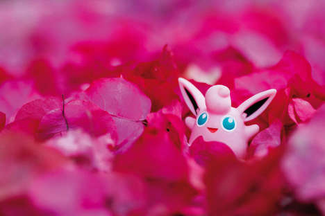 Camouflaged Anime Photography - Jules Perron's Project Cleverly Situates Pokémon Monsters in Nature