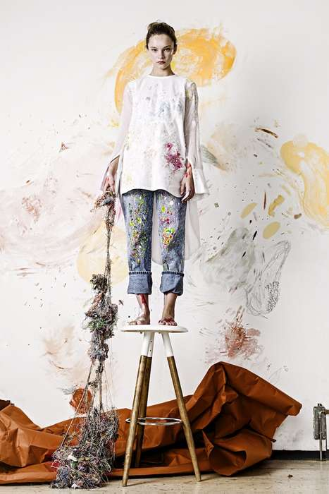 Paint Splatter Embroidery - These Embroidered Clothes Were Inspired by the Process of Painting