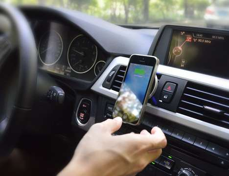 Wireless Vehicular Device Chargers - The 'Put2Go' Car Dock Wirelessly Charges and Mounts Devices