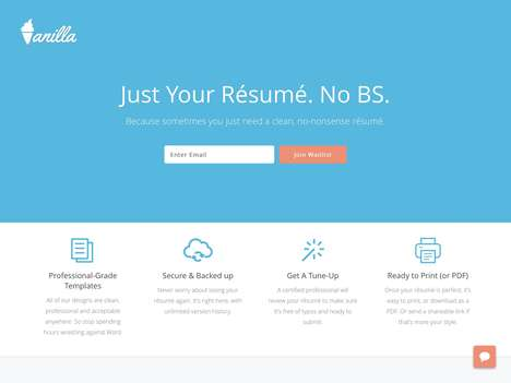 Resume-Maximizing Apps - 'Vanilla' Cuts Out Clutter When Creating a Professional Resume