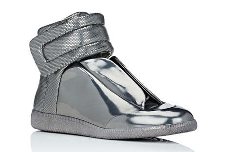 Metallic High-Top Shoes - These Futuristic Luxury Shoes are Highly Reflective