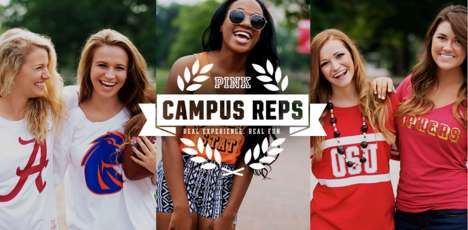 Lingerie Brand Campus Representatives - The PINK Campus Reps Promote Victoria's Secret at Colleges