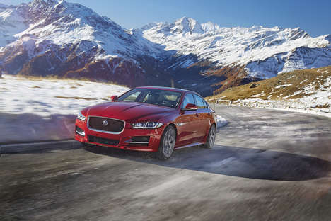 Responsive Diesel-Powered Cars - The New Jaguar XF Can Adapt to Complicated Road Conditions