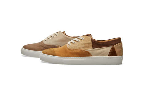Luxe Patchwork Shoes - COMME des GARÇONS SHIRT Collaborated with Generic Man for a New Suede Series
