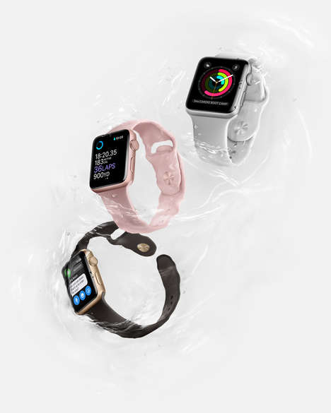 High-End Swimmer Smartwatches - The Apple Watch Series 2 Features Exceptional Tracking in Water