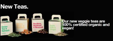 Vegetable-Based Teas - T2's Veggie Teas are Made from Organic and Vegan-Friendly Ingredients