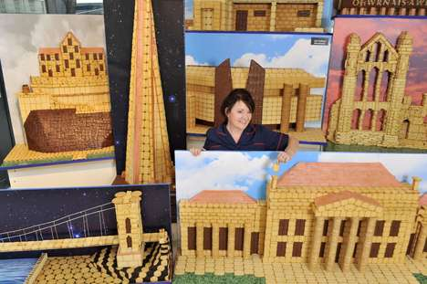 Biscuit-Built Skyline Sculptures - Macmillan Cancer Support Built this Structure for Charity