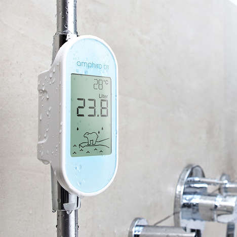 Conservation-Encouraging Shower Meters - Amphiro Water Meters Measure Consumption to Deter Overuse