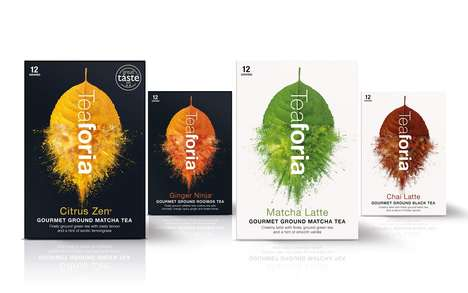 Flavored Powdered Teas - These Ground Teas are Mixed with Natural Fruit Blends