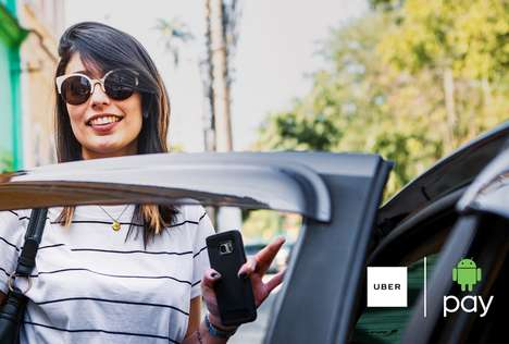 Smartphone Payment Rideshare Promos - The Android Pay Uber Promotion Provides 50% Off Ten Rides