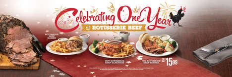 Beef-Centric Menus - Swiss Chalet is Celebrating One Year of Rotisserie Beef with Three New Dishes