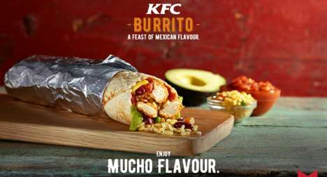 Zesty Chicken Chain Burritos - The KFC Burrito is Now Available in South Africa
