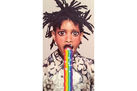 Filter-Centered Celebrity Editorials - Willow Smith Was the Focus of GARAGE Magazine App's Issue