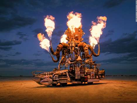 Absurd Automobile Photography - Scott London Photographed the 'Mutant Vehicles' of Burning Man