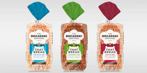 Animated Baked Bread Branding - The Breadski Brothers 'That Bread' Packaging is Convenient