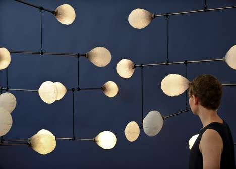 Balanced Lighting Mobiles - LeveL's Lights are Brightest When the Exhibit is in Perfect Equilibrium