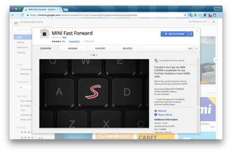 Fast-Forwarding Browser Extensions - This Mini Cooper Internet Browser Extension Speeds Up Videos