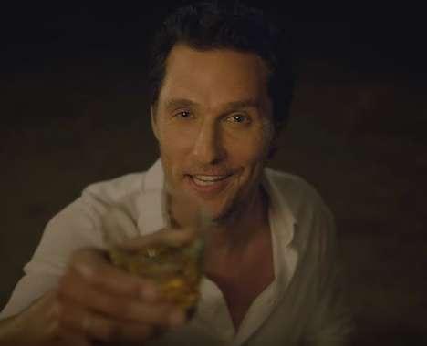 Heartthrob-Directed Bourbon Ads