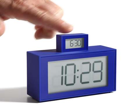 Foolproof Alarm Clocks - Lexon's In-Out Alarm Clock Makes Forgetting to Set the Alarm Impossible