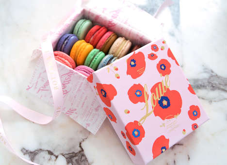 Botanical Macaroon Packaging - This Vibrant Packaging Was Designed to Appear As Whimsical