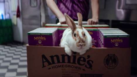 Bunny-Filled Brand Campaigns - Annie's Homegrown Shows Bunnies Hopping Around a Grocery Store